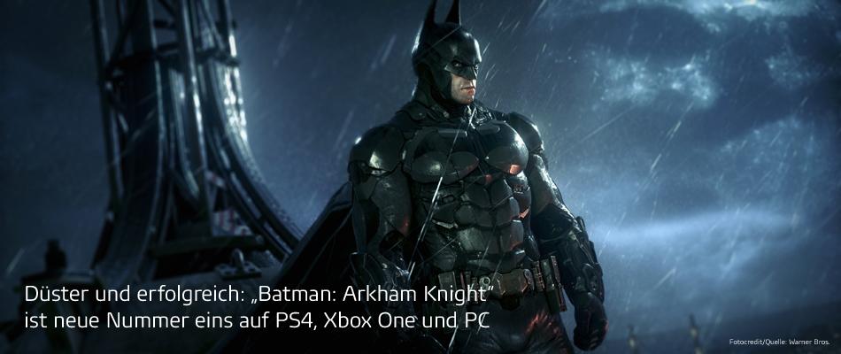 """Games-Charts: """"Batman: Arkham Knight"""" schwingt sich auf Platz eins"""