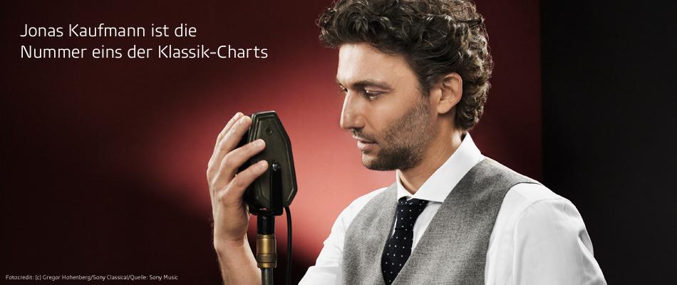 Jonas Kaufmann auf Platz eins der Klassik-Charts